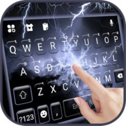 Image of Sky Lightning Keyboard Background