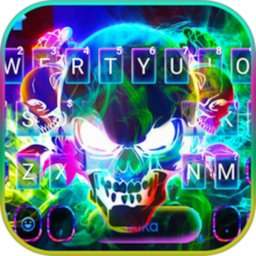 Image of Smoke effect 3D Colorful Skull Keyboard