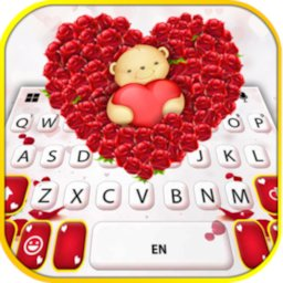 Teddy Roses Love Keyboard Background icon