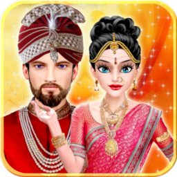 Image of Indian Love Marriage Wedding with Indian Culture