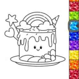 Image of Unicorn Glitter Coloring Book