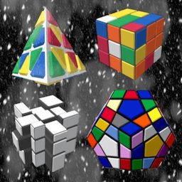 Image of Magic Cubes of Rubik and 2048