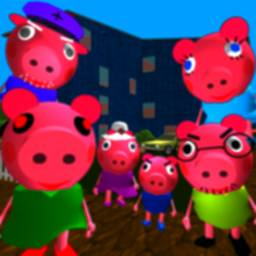 Image of Piggy Neighbor. Family Escape Obby House 3D