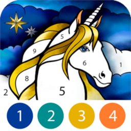 Image of Unicorn Color by Number
