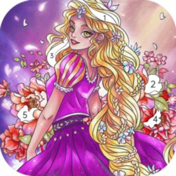 Image of Princess color by number: Coloring games offline