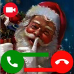 Image of Santa Claus Merry Christmas Fake Video Call