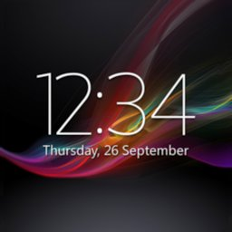 Image of Digital Clock Widget Xperia