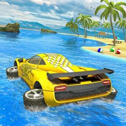 Image of Water Surfer car Floating Beach Drive