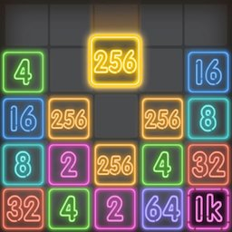 Drop Number : Neon 2048 apk