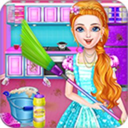 Image of Doll House Clean House Cleanup Girls Games