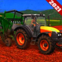 Image of Offroad Tractor Transport 2021-Farming Games 3d