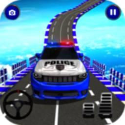 Police Spooky Jeep Stunt Game