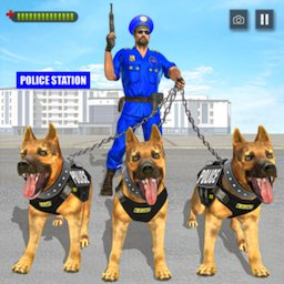 Image of Police Dog Gangster Chase