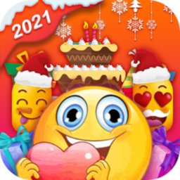Image of Birthday Stickers For WhatsApp-Love & Emoji