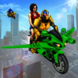 Image of Flying Robot Bike Taxi Simulator-Bike Driving Game
