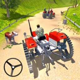 Image of Tractor Driving Simulator Drive Steel Tire Tractor