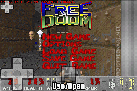 This is port of the classic game Doom on Android phones