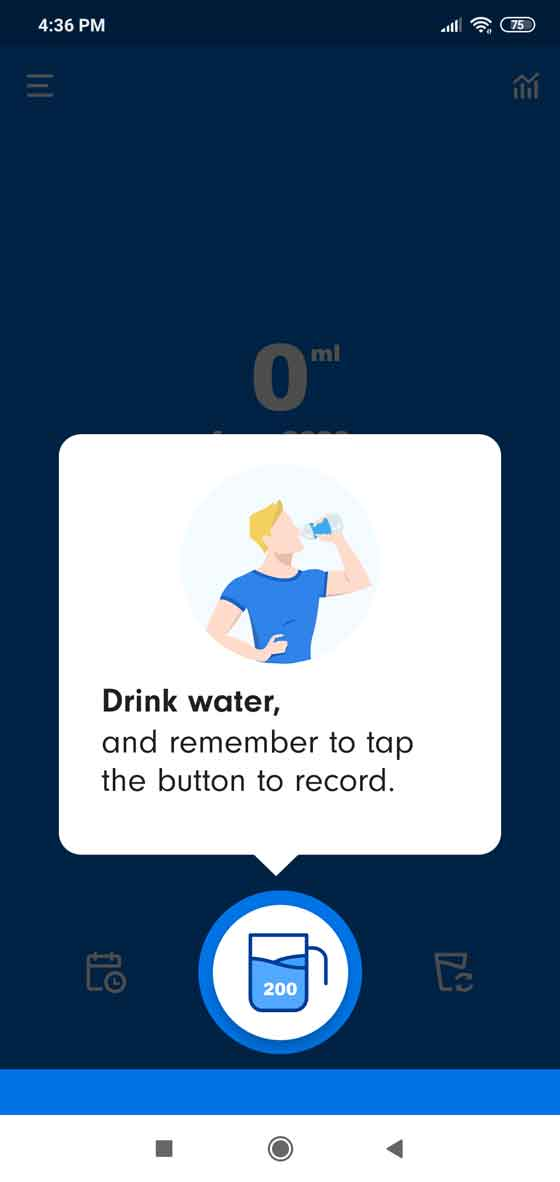 How to track daily water intake?