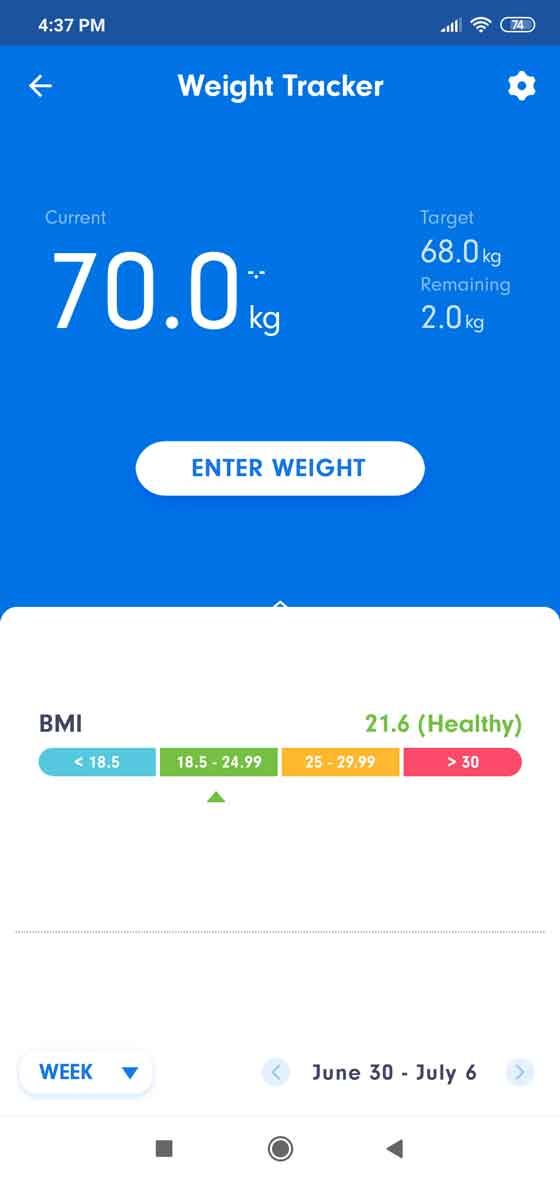 Track your weight