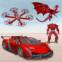 Image of Drone Robot Car Transforming Game