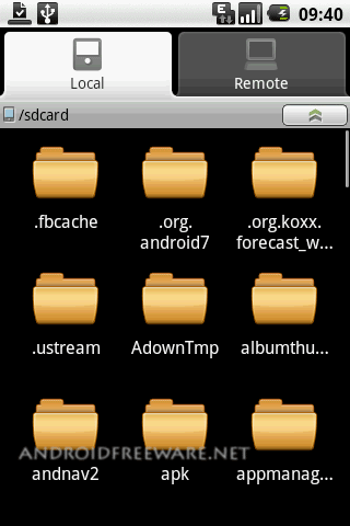 EStrongs File Explorer is a featured File/Application Manager which can explore the phones & computers in LAN network.