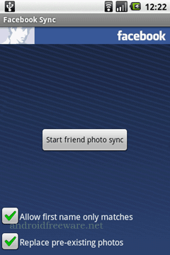 Facebook Sync for Android copies your friends profile photos into your