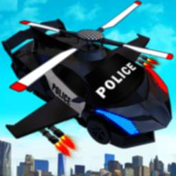 Image of Flying Police Helicopter Car Transform Robot Games