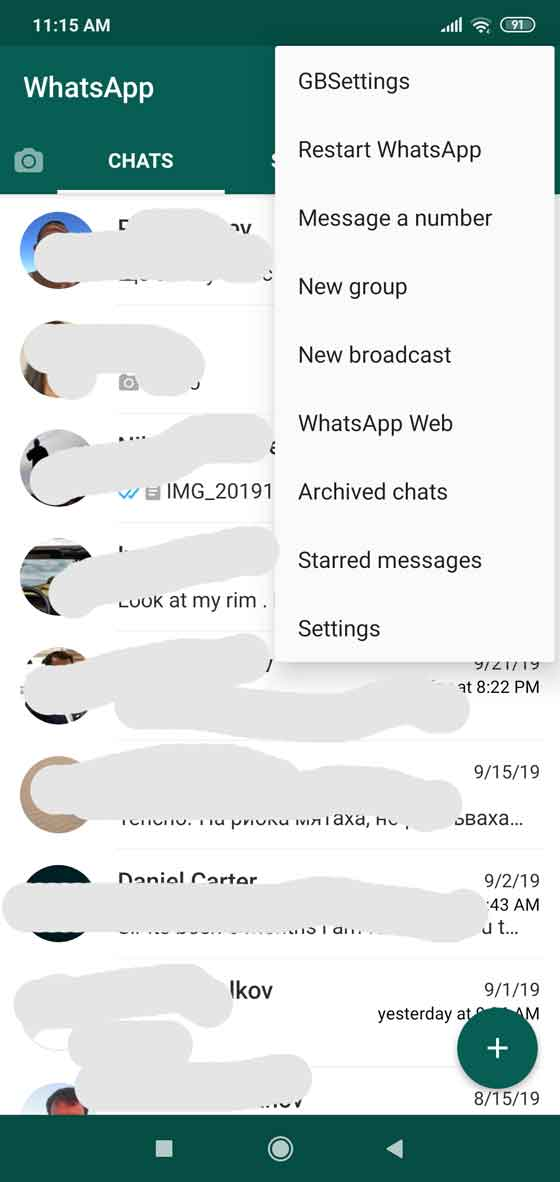 FM WhatsApp screenshot 1