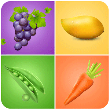 Image of Fruits and vegetables for kids