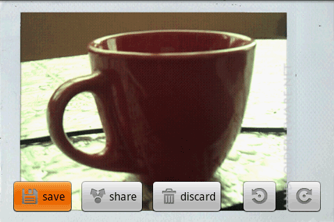 FxCamera enables you to take a picture with various effects.