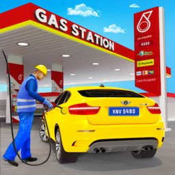 Image of Gas Station Car Driving Simulator Car Parking Game