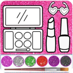 Image of Glitter beauty coloring and drawing