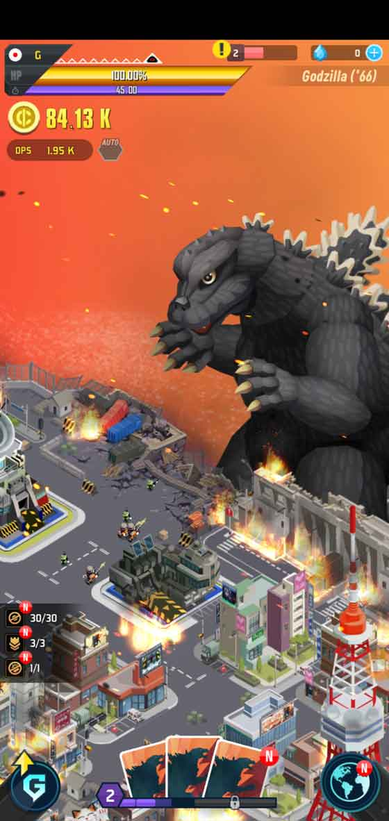 Godzilla Defense Force gameplay