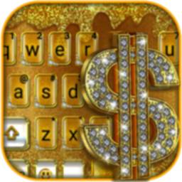Image of Golden Dollar Drops Keyboard Theme