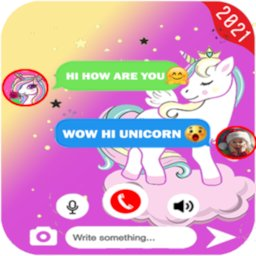 Image of talk with unicorn call and fake Chat PRANK