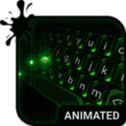 Image of Green Light Animated Keyboard + Live Wallpaper