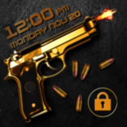 Image of Gun shooting lock screen