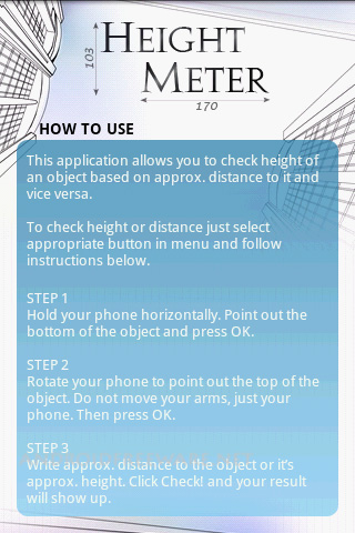Height Meter is height and distance measuring app