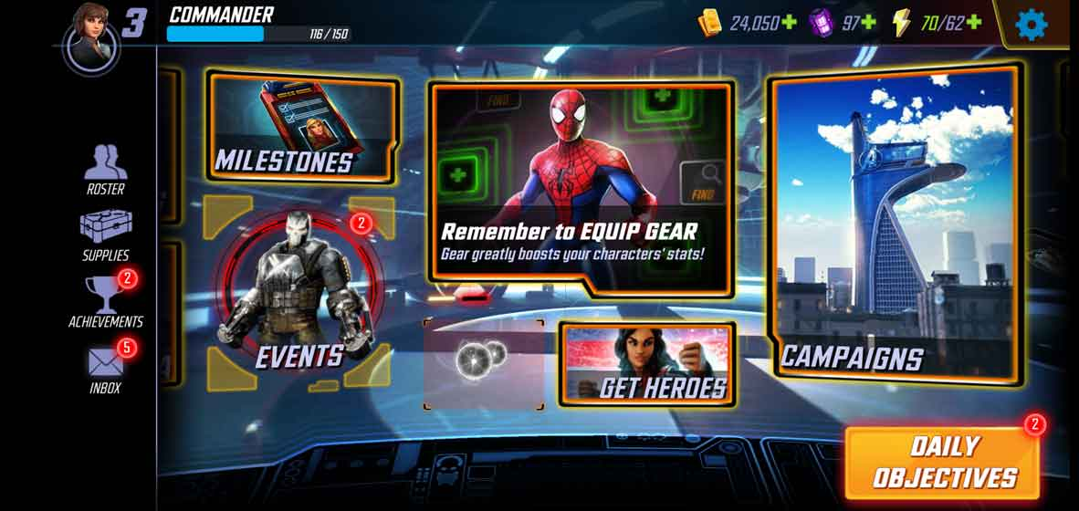 MARVEL Strike Force features