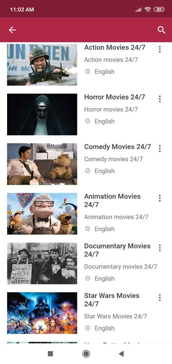 Huge selection of movies