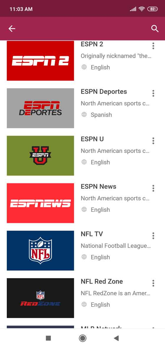 All the sport events in your pocket
