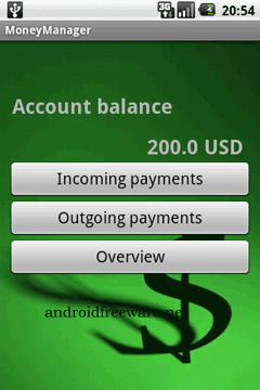 It is a small finance app that you show where your money is