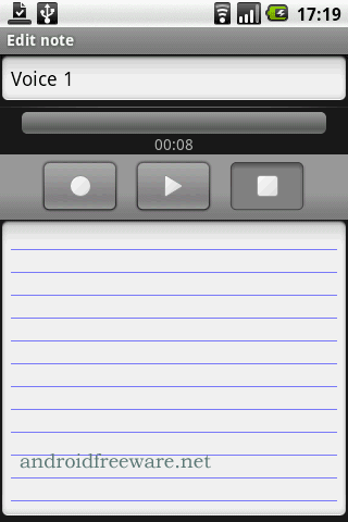 Note Everything is a note (notepad) application for android.