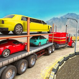 Image of Offroad Transporter Car Trailer Parking Drive