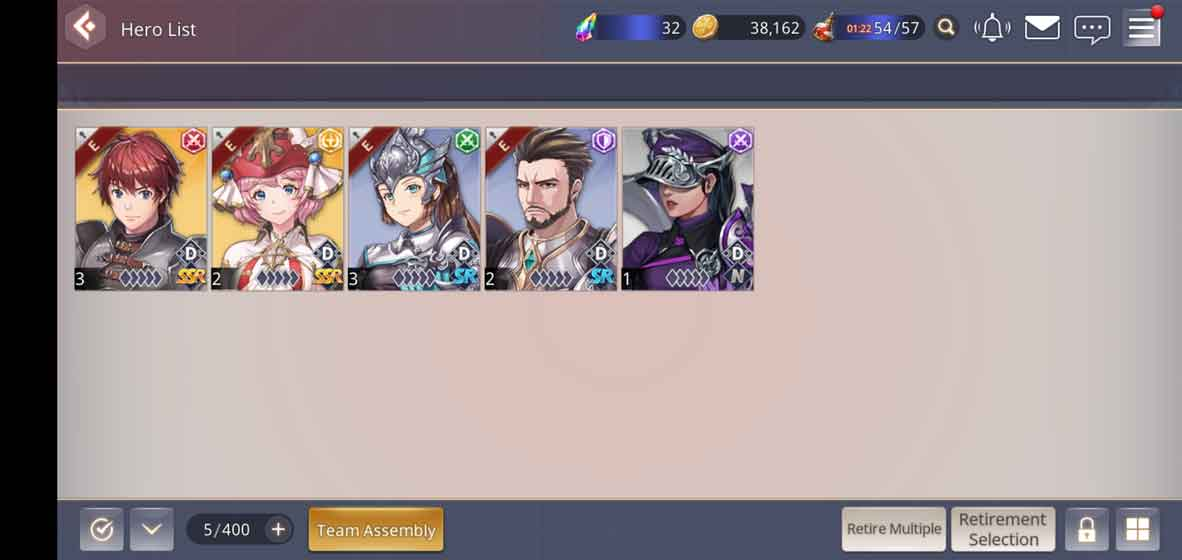 Wide selection of heroes