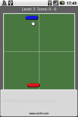 Simple table tennis game.
