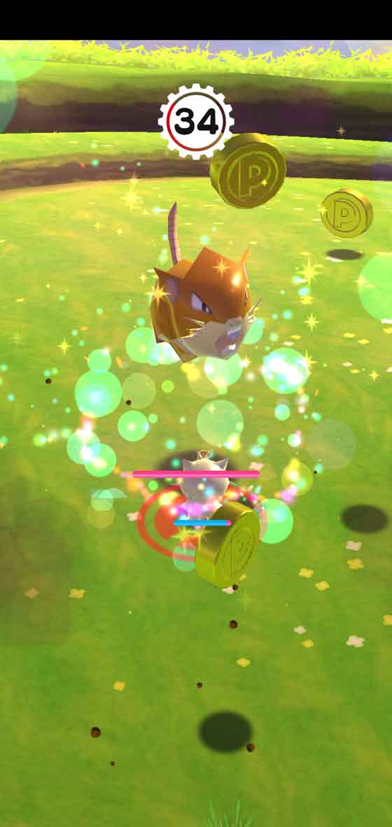 Pokemon Rumble Rush gameplay