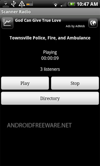 Allows you to listen to over 2,100 police and fire scanners, railroad communications, and weather radio broadcasts from around the world