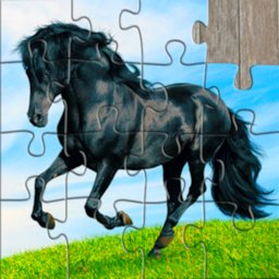 Image of Horse Jigsaw Puzzles Game - For Kids & Adults 🐴