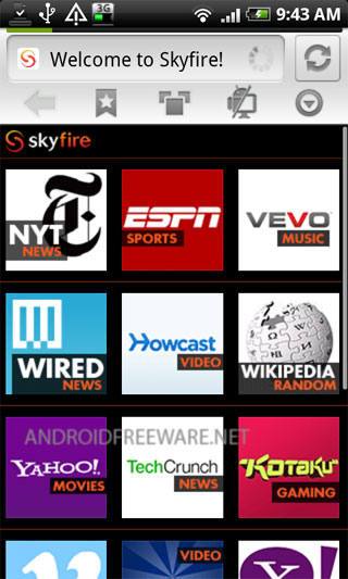 Skyfire Browser makes your mobile internet experience richer, smarter and more fun!